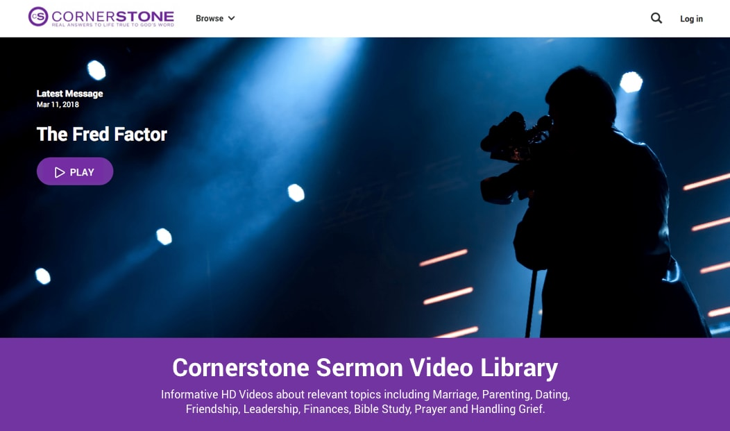 Post your latest sermon video instantly